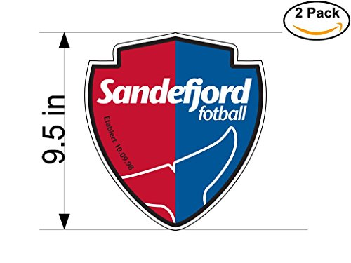 fan products of Sandefjord Norway Soccer Football Club FC 2 Stickers Car Bumper Window Sticker Decal Huge 9.5 inches