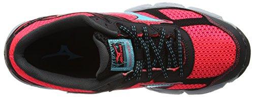 Mizuno Black Capri Mujer running 3 de Rosa Fiery Coral 40 Wave Kien Zapatillas 4xqwrF4T