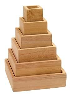 Guidecraft - Pirámide de arcoíris apilable