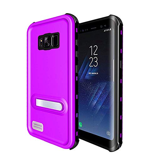 Samsung Galaxy S8 Waterproof Case, Ultra light Waterproof shockproof Dirtproof Diving Phone case for Samsung Galaxy S8 (Purple)