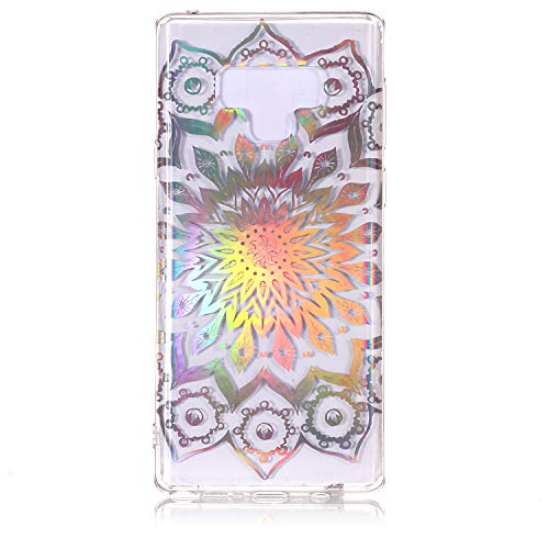 Galaxy Note 9 Case, Dooge Ultra Thin Crystal Colourful Laser TPU Case Light but Durable Clear Soft Flexible TPU Rubber Silicone Skin Protection for Samsung Galaxy Note 9 - Laser Silicone Skin Zebra