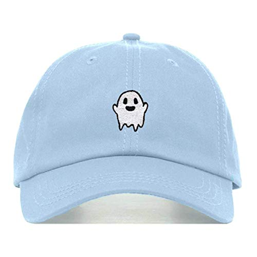 Ghost Dad Hat, Embroidered Baseball Cap, 100% Cotton, Unstructured Low Profile, Adjustable Strap Back, 6 Panel, One Size Fits Most (Multiple Colors) (Baby -