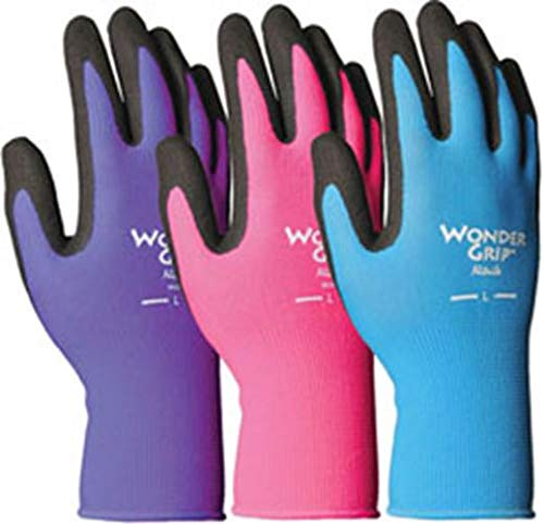 (Wonder Grip Nicely Nimble Gloves, Medium, Assorted Colors)