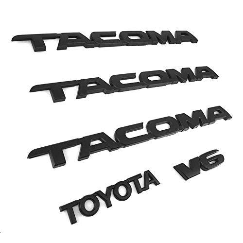 (XYGGOO 5 PCS Door Fender Emblem Decal Badge Nameplate for 2005-2015 TACOMA MATTE)