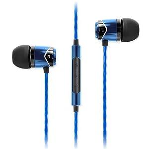 SoundMagic E10C-BLBK Écouteurs intra-auriculaires à isolation phonique avec  micro et télécommande noir bleu   Le ... 400725ead1ad