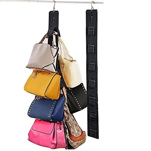 (Relavel Hanging Purse Organizer Handbag Rack for Closet Storage Holder for Purses Handbags with Hook)
