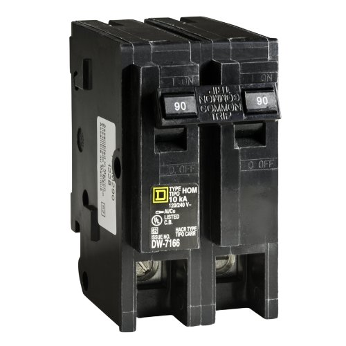 Square D by Schneider Electric HOM290CP Homeline 90-Amp Two-Pole Circuit -