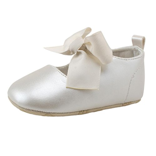 Zapatos de bebé, Switchali zapatos bebe niña Princesa verano Recién nacido Niña Cuna Suela blanda Antideslizante Zapatillas Bebé niña bowknot vestir casual Blanco