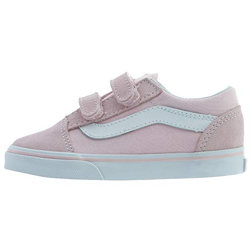 Vans Toddler Old Skool V VN0A344KQ7K (Suede/Canvas) Chalk Pink/True White Toddler 8.5 ()