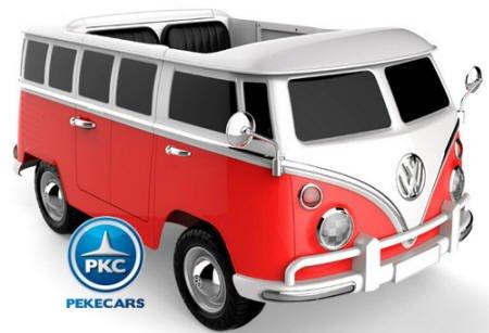 Rosso VW pekeautos Furgone Volkswagen 2 posti 12 V 2.4 G rosso