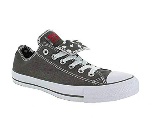 Converse Chuck Taylor WOMENS All Star Grey Double Tongue Ox 534760f (Womens 6/ mens 4) Double Tongue Ox Shoes