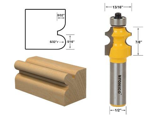 Yonico 13109 5/32-Inch Radius Corner Bead/Beading Router Bit 1/2-Inch Shank (Corner Bead Finish)