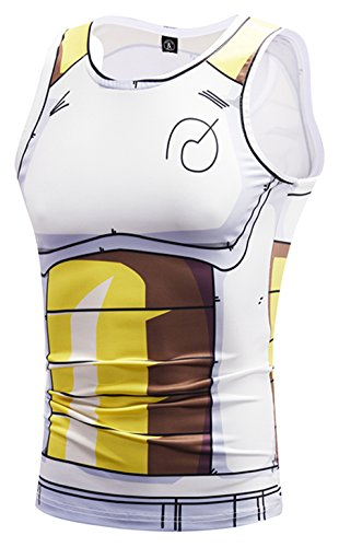 - PIZOFF Mens Sleeveless Quickly Dry 3D Cartoon Print Work Out Compression Tank Tops Y1783-37-M