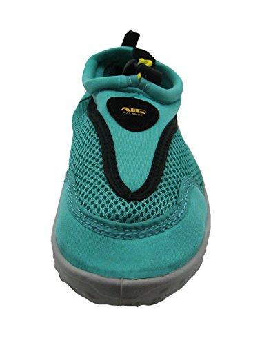 Strap on Scheme Women's Fashionable Color Water Velcro Ankle Aqua Shoes w Slip EUqUaO