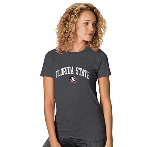 (Camp David Florida State Seminoles Womens Ultra Soft Signature Crew Neck T-Shirt - Charcoal, Womens Extra Large)