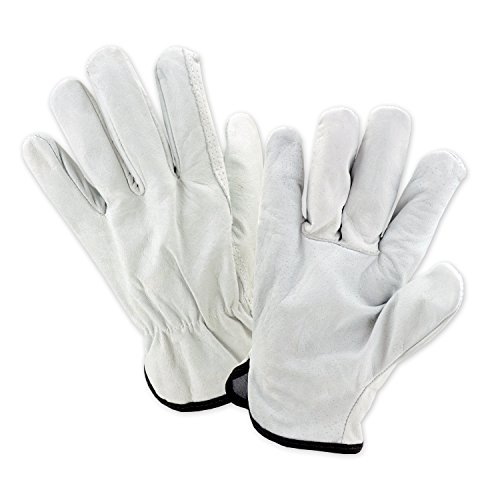 West Chester 996IW 2XL Select Grain Economy Leather Driver Wing Thumb Gloves, 2XL, White (Pack of 12)