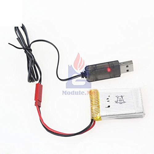 3.7V 500mA Output 1S Lipo Lithium Battery USB Cable Charger Red JST Female Head DIY Kit Electronic PCB Board Module