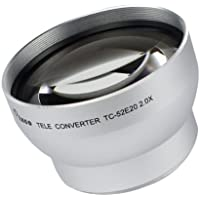 Pixco 52mm 2.0X Tele Conversion Lens with Silver Color For camera lens with 52MM Filter