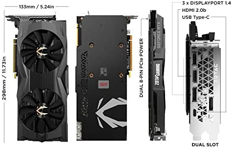 Zotac Gaming Geforce Rtx 2080 Ti Amp Maxx 11gb Gddr6 Graphics Card Zt T20810h 10p Computers Accessories