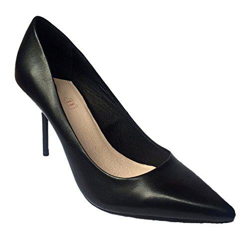 Faith Cadillac - Zapatos de vestir de Piel para mujer Negro negro