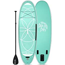 Ten Toes Boards The Yogi 10' Inflatable Stand Up Paddle Board Bundle-Seafoam