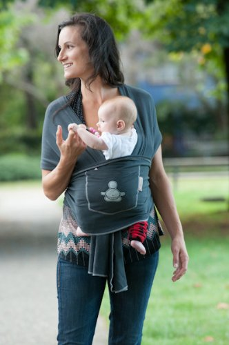 Amazon Com Baby Buddha Carrier Organic Cotton Bamboo Baby Wrap