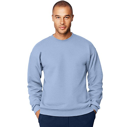 Hanes Men's Ultimate Cotton Heavyweight Crewneck Sweatshirt_Light Blue_S