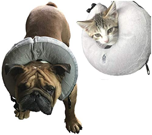 Vast Array Protective Inflatable Collar for Dogs and Cats - Soft Pet Recovery Collar Prevent Pets from Touching Wounds After Surgery - Procollar Inflatable