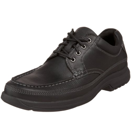 Rockport Men's Banni Moc-Toe Rugged Oxford,Black,11.5 M US