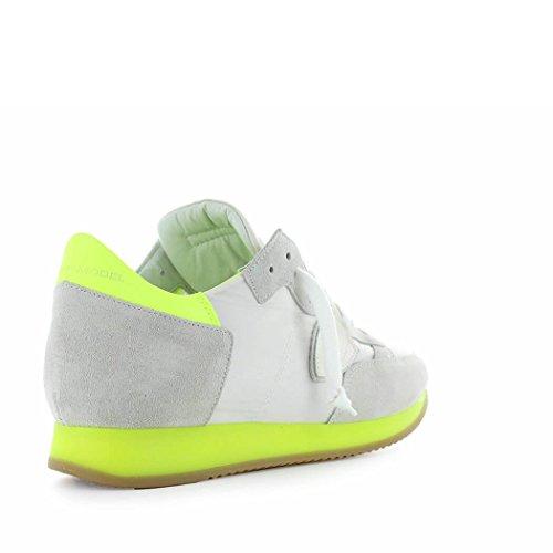 Philippe Model Zapatos de Hombre Zapatilla Tropez Neon Blanco Amarillo Primavera Verano 2018