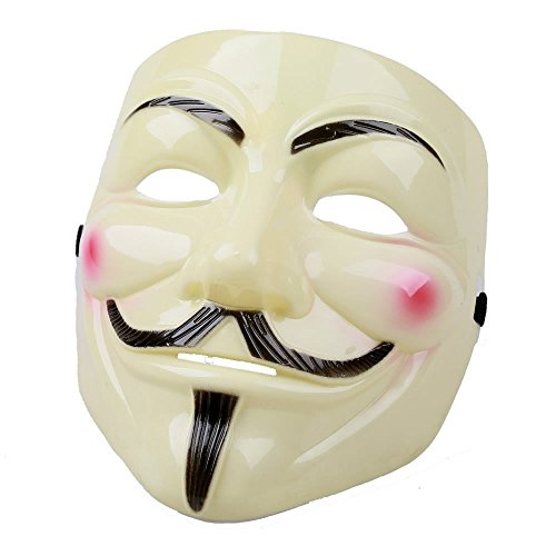 Halloween Masks Cheap (AStorePlus V for Vendetta Cosplay Guy Fawkes Halloween Mask - Yellow)
