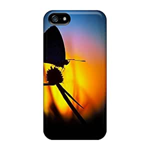 Premium Butterfly Sunset Back Cover Snap On Case For Iphone 5/5s
