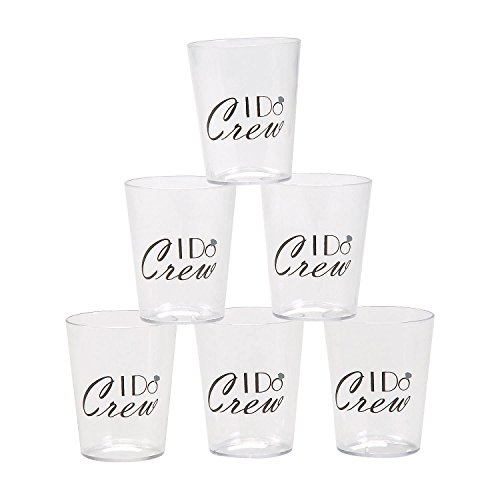 Fun Express I Do Crew Shot Glasses | 24 Count | Great for Wedding Parties, Bridal Shower, Bachelor Party, Bachelorette Party, and Engagement Celebrations