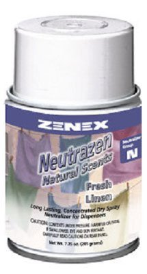 Zenex Neutrazen Fresh Linen Scent Metered Odor Neutralizer - 12 Cans (Case) by ZENEX International (Image #1)
