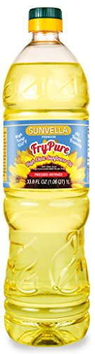 SUNVELLA FryPure Non-GMO High Oleic Sunflower Oil, Pressed-Refined (33.8 FL OZ (Vegetable Oil Frying)