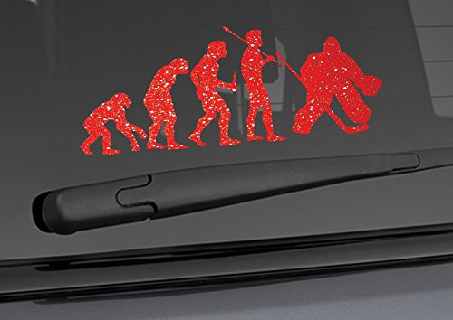 Evolution Monkey Man HOCKEY ICE Goalie in mask pads skates Car Vinyl Sticker Wall Decal 3.25