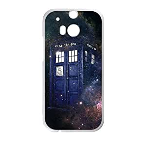 Happy Doctor Who starry night blue police box Cell Phone Case for HTC One M8