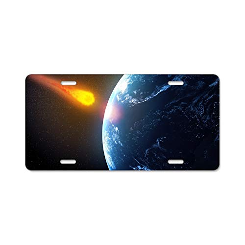 (BaiGrid Giant Asteroid to Pass Earth in Time for Halloween Metal Novelty License Plate Tag Sign for Men or)