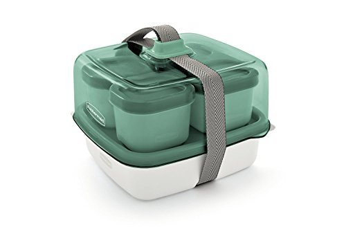 Rubbermaid Fasten + Go Sandwich Kit, Color Seafoam Green