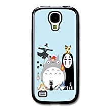 Miyazaki Animation Characters with Totoro No Face Calcifer Fire Illustration case for Samsung Galaxy S4 mini