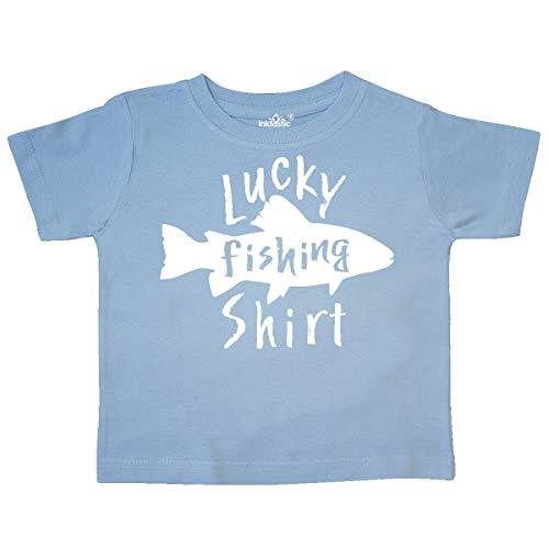(inktastic - Lucky Fishing Shirt- Fish Toddler T-Shirt 2T Light Blue 35952)