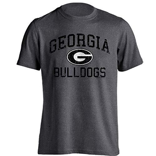 Stadium Bulldogs Georgia Sanford - Southland Graphics Apparel Georgia Bulldogs UGA Distressed Retro Logo Short Sleeve T-Shirt (Charcoal Heather, 2XL)