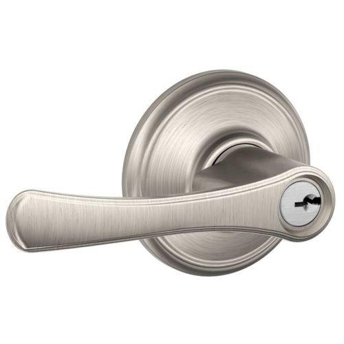 Schlage Panic Hardware (Schlage F51-VLA Avila Keyed Entry F51A Panic Proof Door Lever, Satin Nickel)