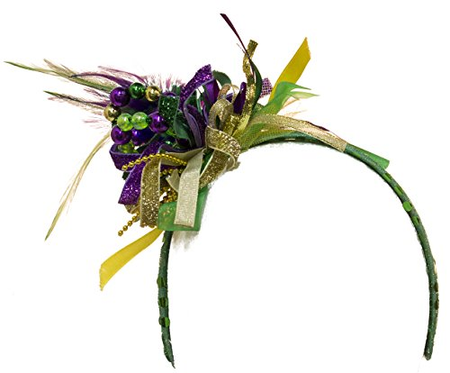Jacobson Hat Company Unisex-Adult's Mardi Gras Headband, Purple, Adjustable]()