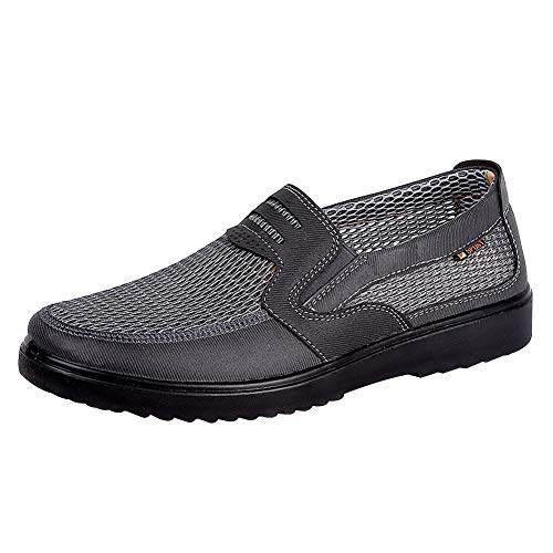 Casual Gris Jamron Malla Ligero Ponerse Hombres Mocasines Respirable Zapatos Verano ZZWqwaH