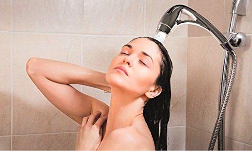 ✮ Pommeau de douche economiseur d'eau | Jets puissants | Douchette haute pression de qualité anti tartre + anti calcaire | Débit: 6.5 litre par minute |