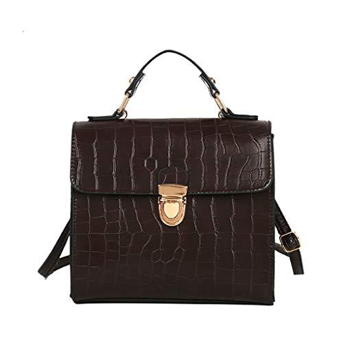 Shoulder Bag for Women,Vintage Crossbody Bags Crocodile Pattern Messenger Bags Wild Clutch Wallet Satchel Purse ()
