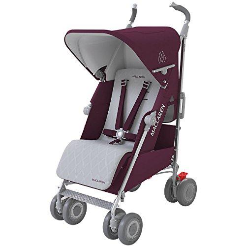 Maclaren Techno XLR Stroller, Plum/Silver