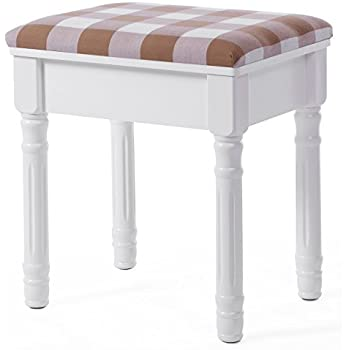 International concepts unfinished vanity bench - Amazon bedroom chairs and stools ...
