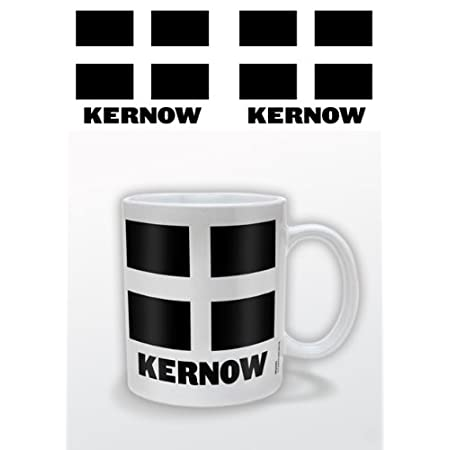 Pyramid International Kernow Cornish Flag Ceramic Mug 414kcgwbLML
